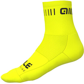 Alé Cycling Strada Strømper 12cm, flou yellow-black